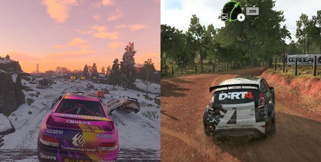 Dirt 5 vs Dirt 4 Camera