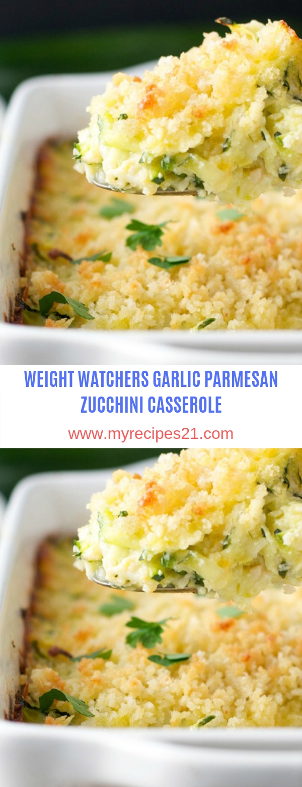 WEIGHT WATCHERS GARLIC PARMESAN ZUCCHINI CASSEROLE