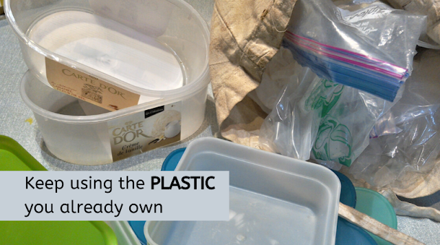 Plastic containers, plates and bags - keep using them