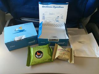 Lanche no voo para Bariloche da Aerolíneas Argentinas
