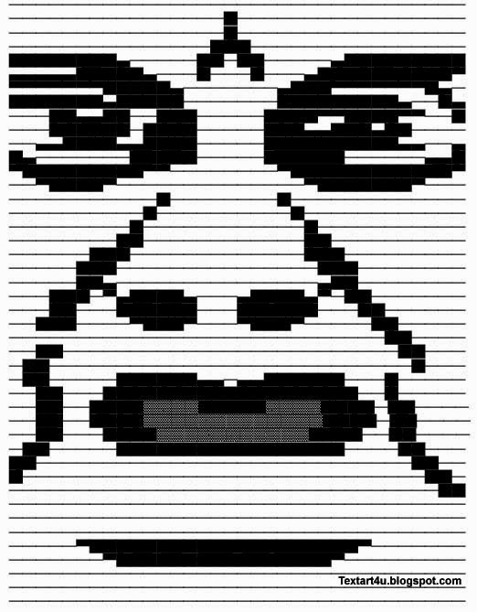 Wat Meme Text Face Copy Paste Text Art Cool ASCII Text Art 4 U