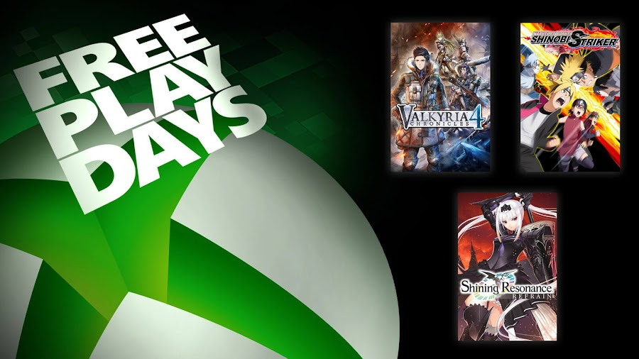 naruto to boruto shinobi striker shining resonance refrain valkyria chronicles 4 xbox live gold free play days event