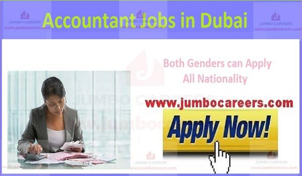 Jobs in Dubai, Current accountant jobs in Dubai,