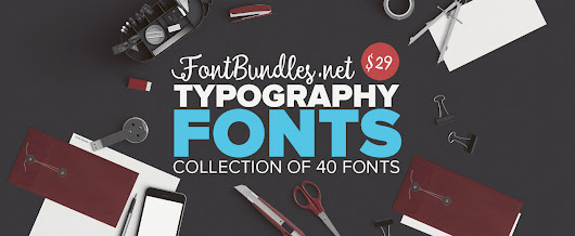 The Typography Fonts Bundle - EXCLUSIVE LIMITED - YandiDesigns