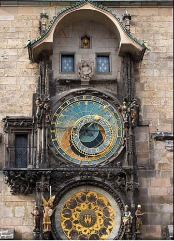 "Prague Astronomical Clock ""Orloj"" (Source: Wikipedia)"
