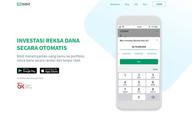 Tampilan Halaman Awal Website Bibit.id