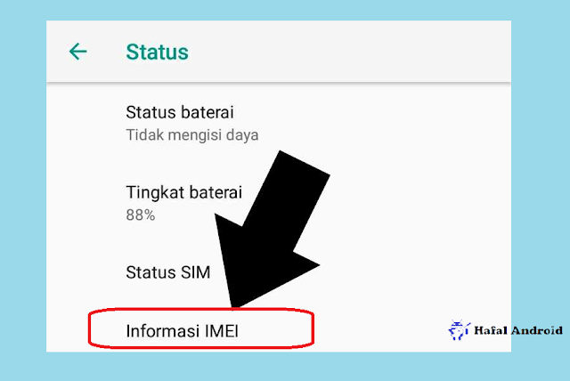 Klik Informasi IMEI Untuk Menampilkan IMEI HPmu