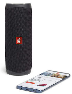 JBL Flip 5 20 W IPX7 Waterproof Bluetooth Speaker with PartyBoost (Without Mic Black)