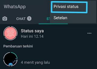 Cara Menyembunyikan Status Whatsapp 10