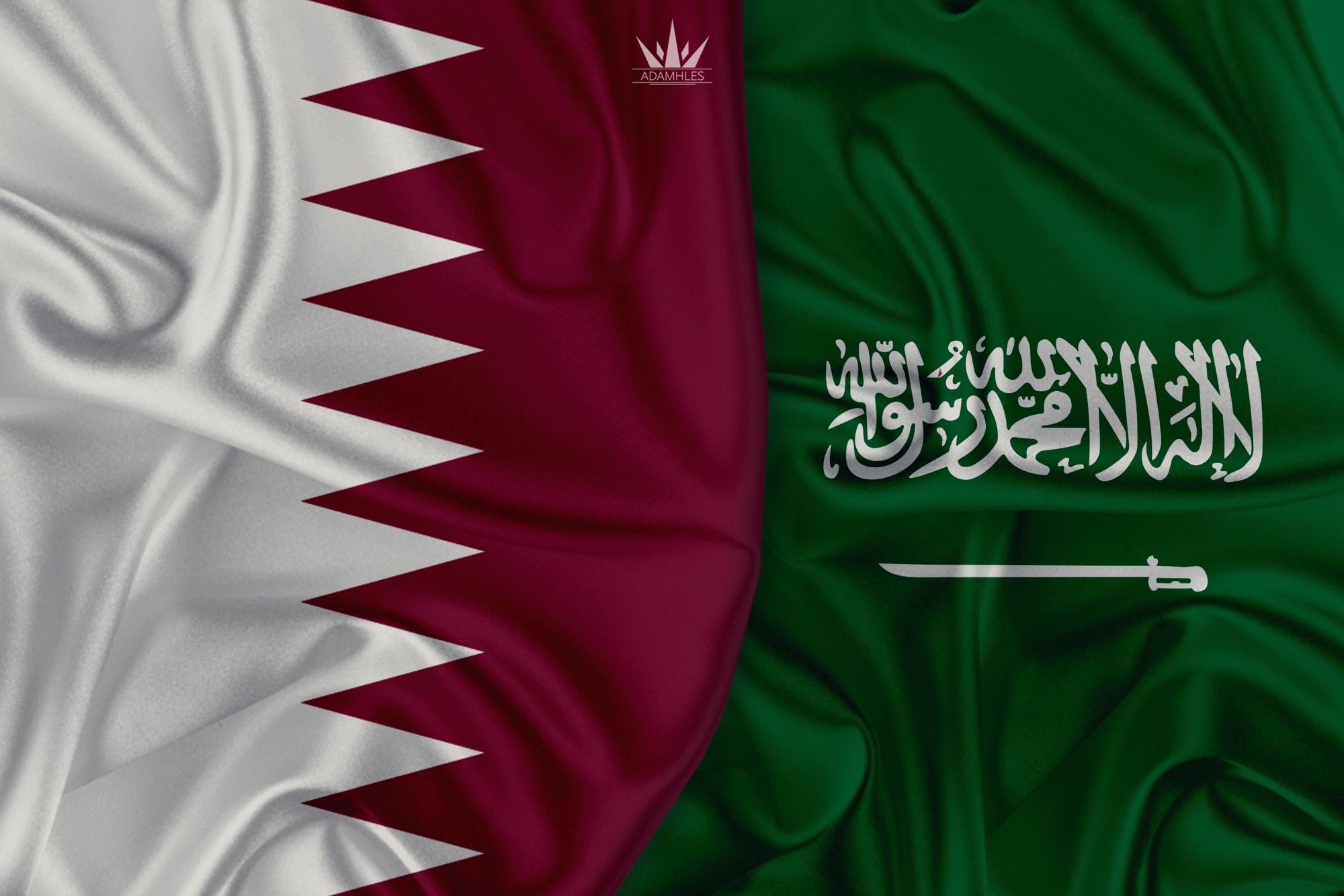 خلفية علم السعودية وقطر اجمل خلفيات العلم السعودي والعلم القطري Qatar and Saudi Arabia
