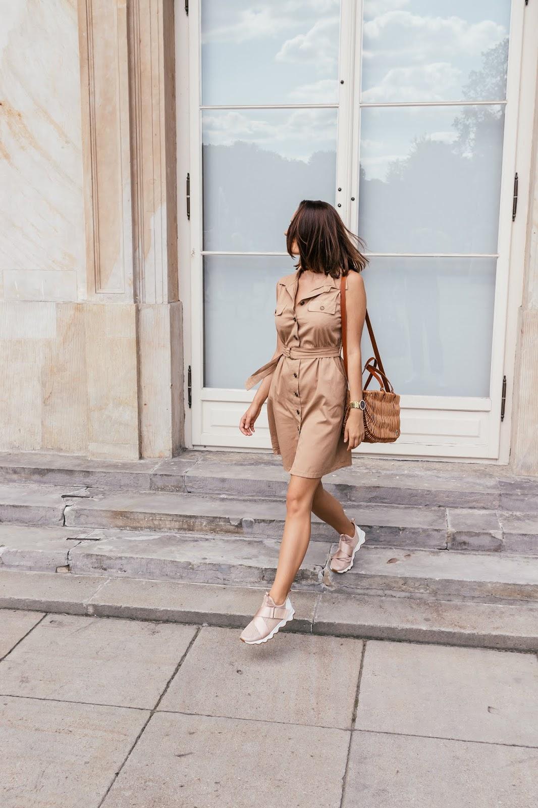 sukienka, lato, stylizacja, moda, buty, włosy