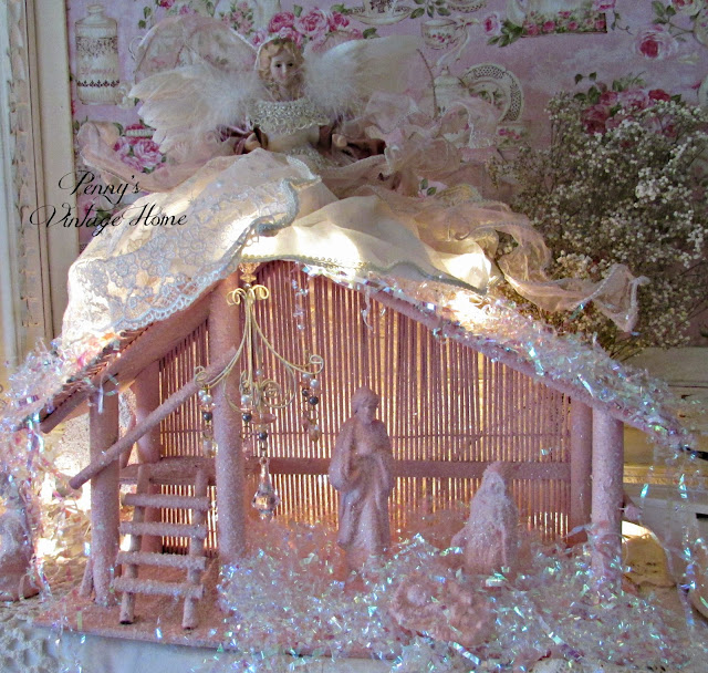 Vintage, Paint and more... Penny's Vintage Home pink nativity