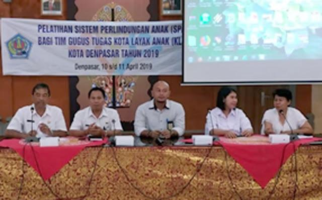 43 Gugus Tugas KLA di Denpasar Mendapat Pelatihan Sistem Perlindungan Anak
