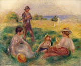 Party in the Country at Berneval by Pierre-Auguste Renoir - Genre Paintings from Hermitage Museum