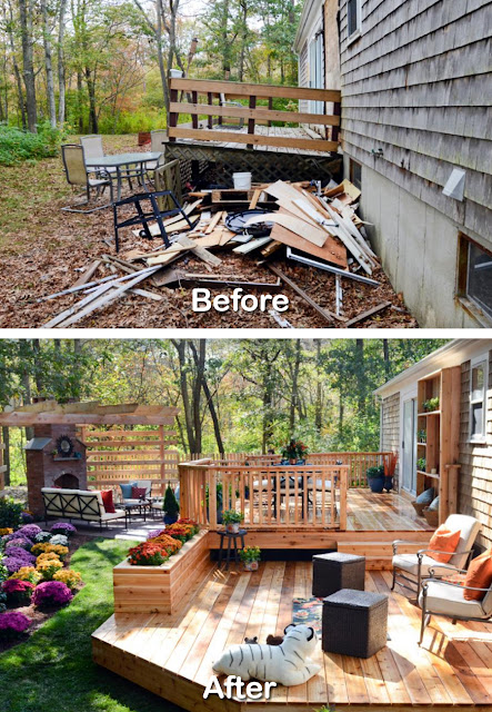 Before After Backyard Renovation Ideas Pictures 4