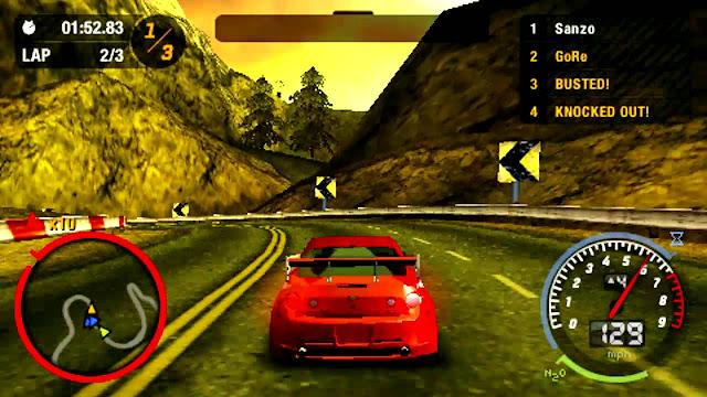 تحميل لعبة السباق نيد فور سبيد Need for Speed Most Wanted PSP لأجهزة psp ومحاكي ppsspp