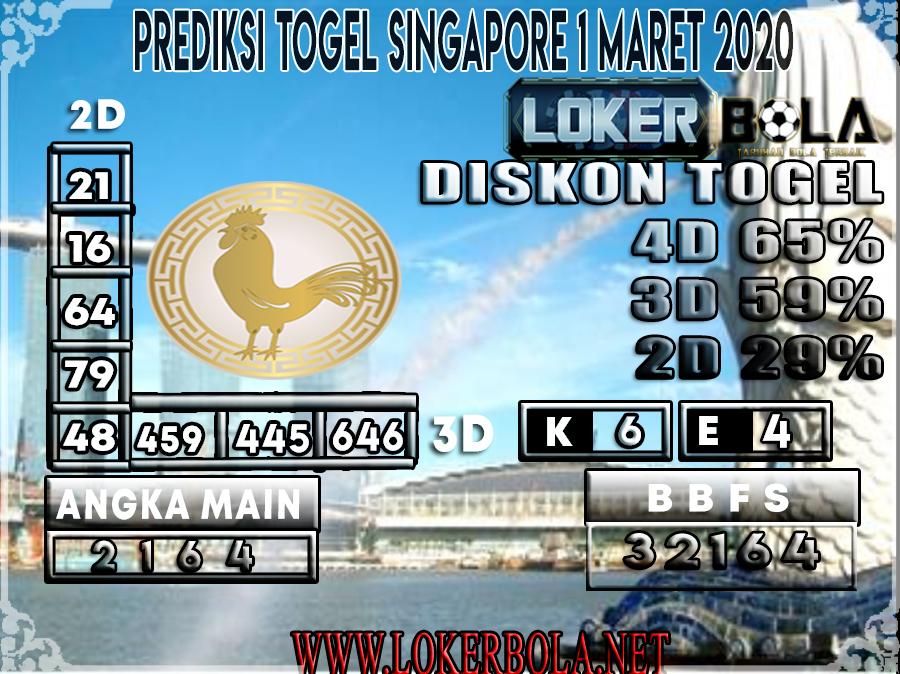 PREDIKSI TOGEL SINGAPORE LOKERBOLA 1 MARET 2020
