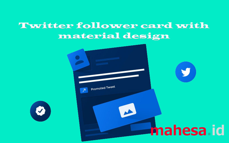 twitter follower card with material design