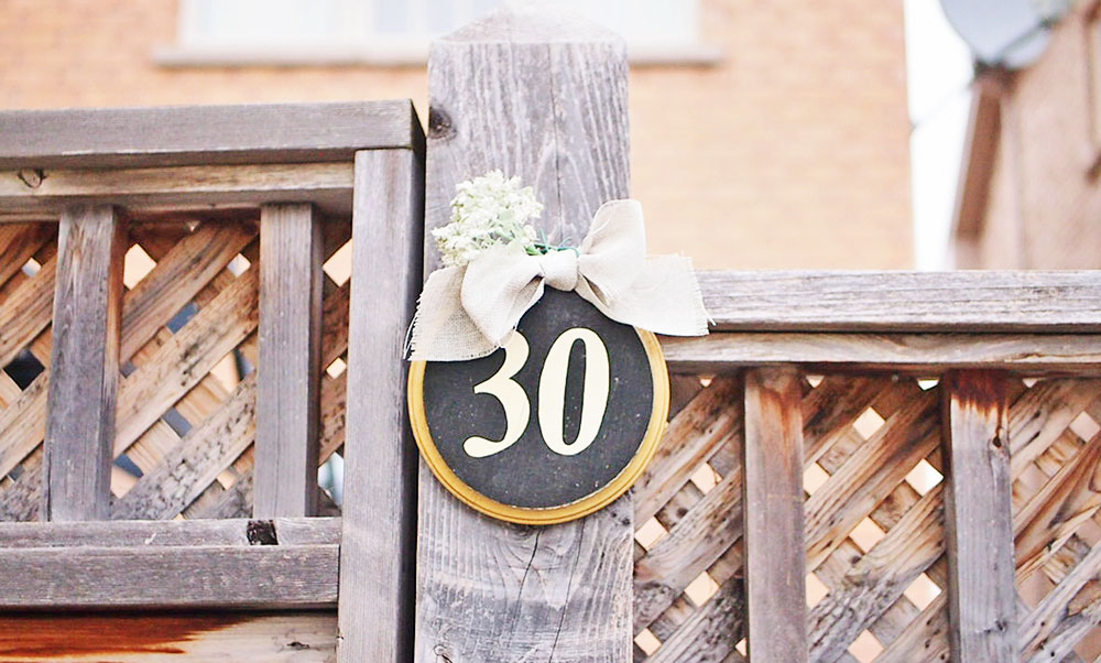 How to make a cute house number for your sweet home (tutorial)