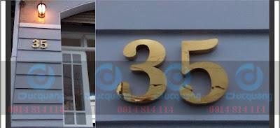 Số nhà chữ inox nổi