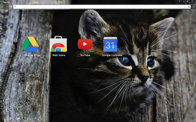 Dark Kitten Chrome Theme