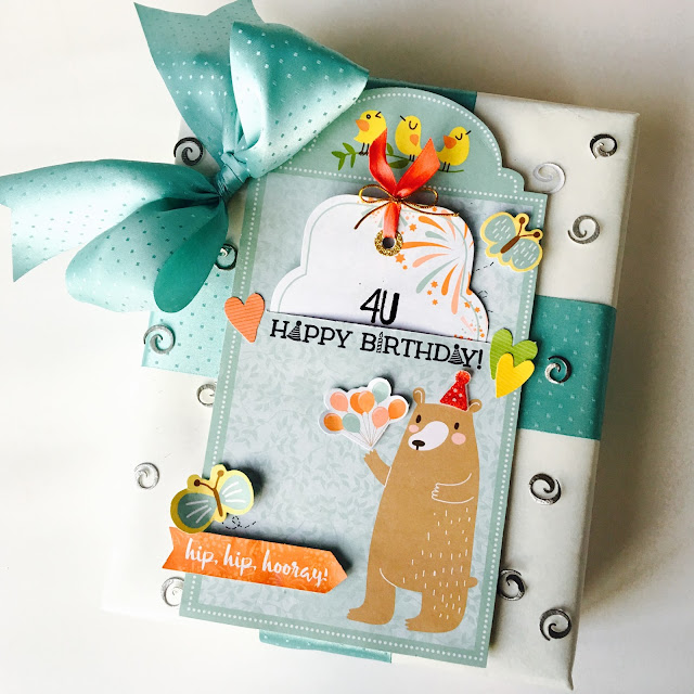 Happy Birthday Card by Angela Tombari using BoBunny Weekend Adventures Collection