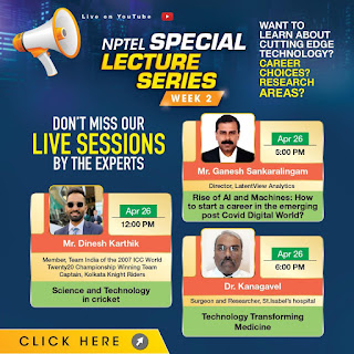NPTEL New Lecture Series Live Today