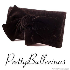 Kate Middleton style Pretty Ballerinas Velvet Clutch