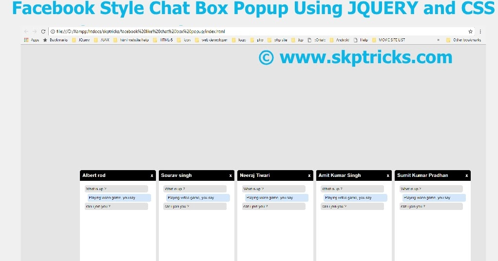 Facebook chat box tutorial