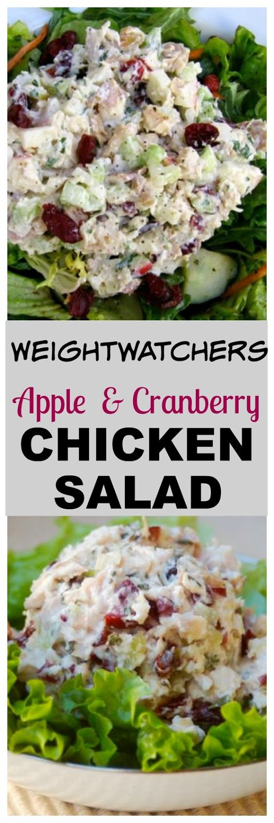 Leftover rotisserie chicken, apples, celery, and dried cranberries in a light and creamy dressing,this easy healthy chicken salad with apples and cranberries is a lunchtime favorite.