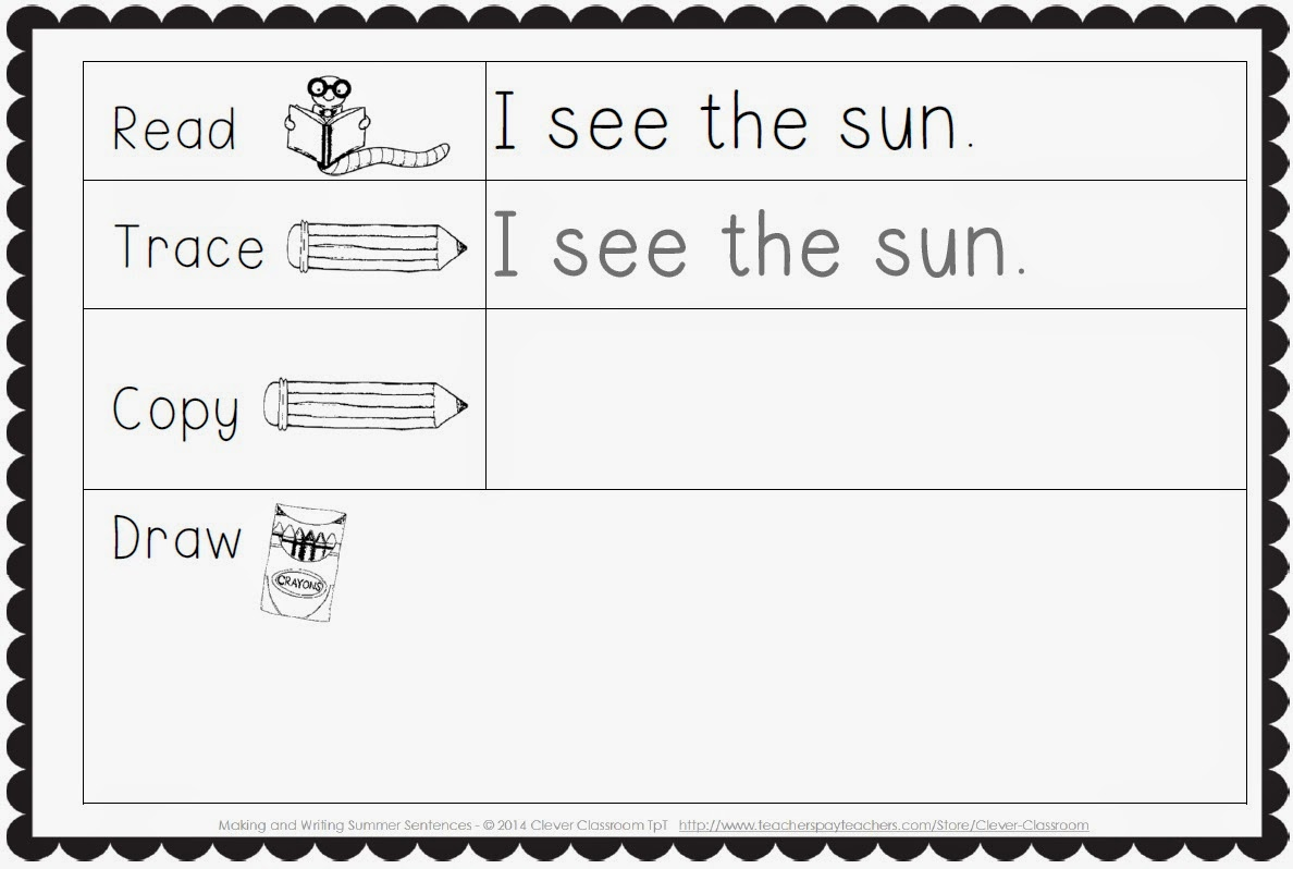 Workbooks writing short sentences worksheets : Making and Writing Sentences the BUNDLE - Clever Classroom Blog