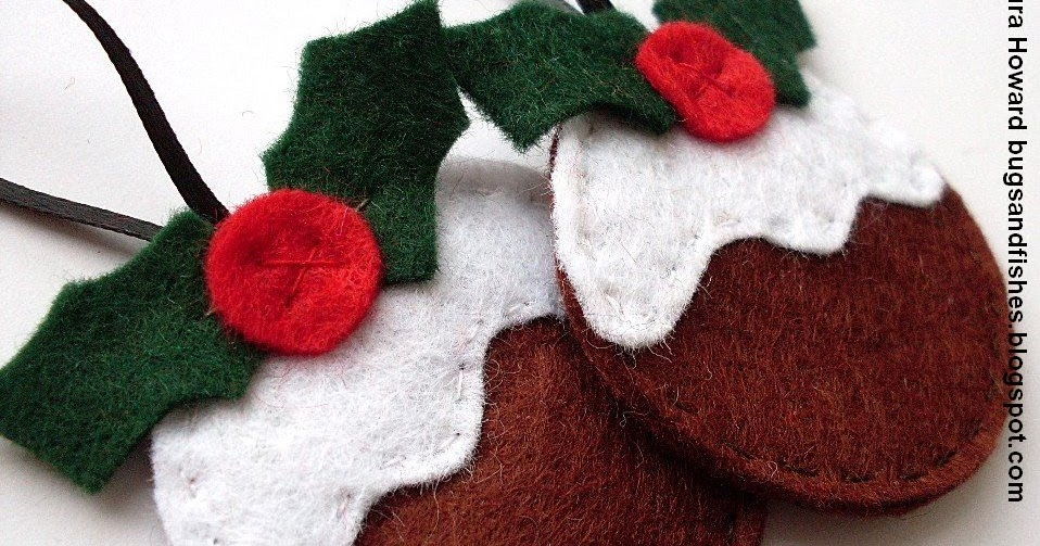 Bugs and Fishes by Lupin: Felt Ornament How-To #3