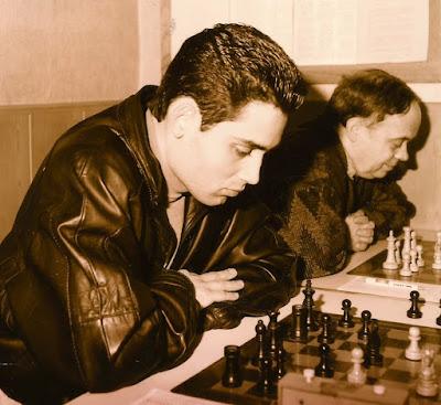 Los ajedrecistas Joaquim Travesset Ribera y Jaume Anguera Maestro