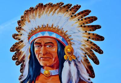 Desenho de um índio nativo americano