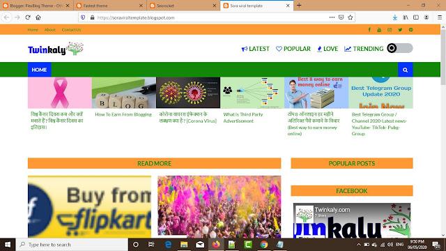 Premium Blogger Theme Free Download