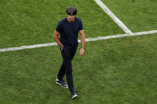 Joachim Loew before Germany vs Sweden kick-off at Russia 2018
