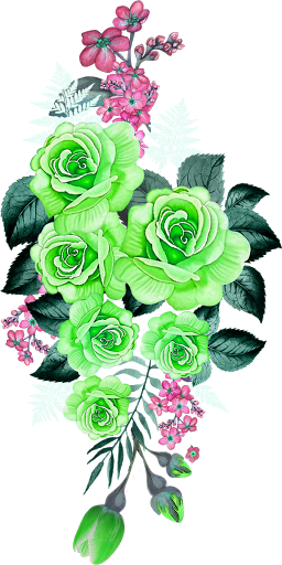 Textile digital Flower patch design 200084