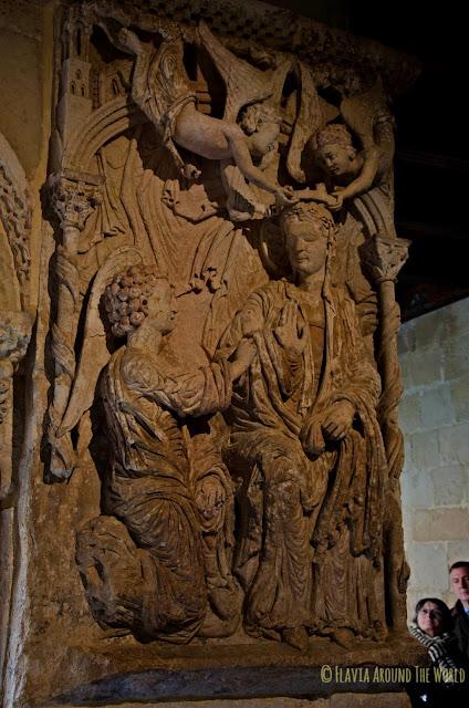 Detalle del claustro de Silos