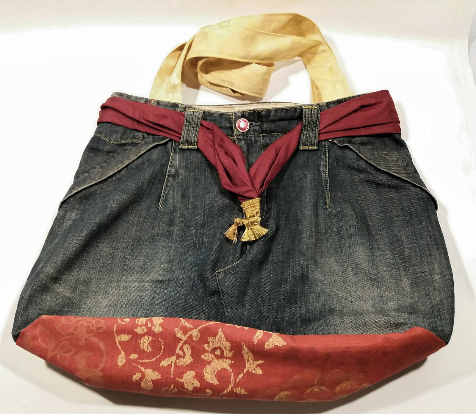 Borse Fatte Mano : Ecoartigianato borse jeans fatte a mano uniche e originali