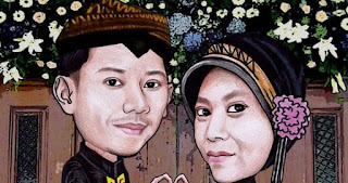 Gambar Karikatur Wedding Jawa Prewedding