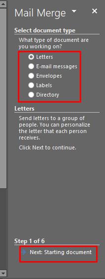 memilih jenis dokumen