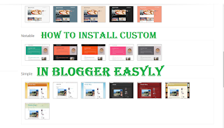 How to install Any custom template in blogger