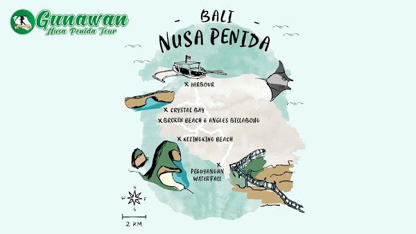 Paket Tour 1 Hari Penuh Nusa Penida Murah Terbaik 2021