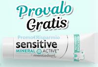 Logo Mentadent Provalo Gratis : Sensitive Mineral Active