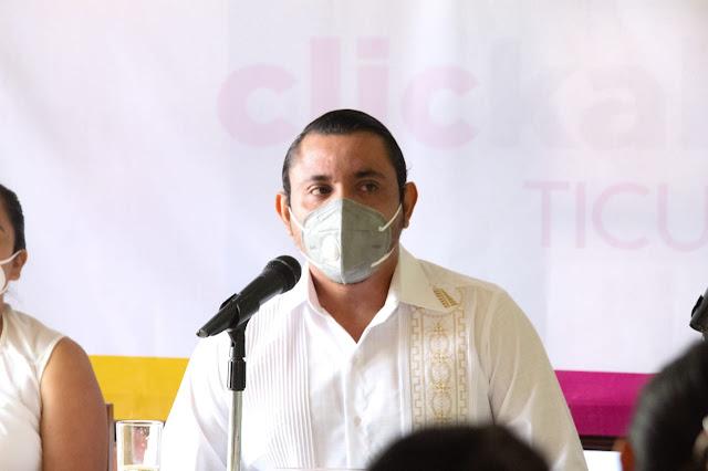 Alcalde de Ticul, Rafael Montalvo Mata, aspira reelegirse. Foto Antonio Sánchez