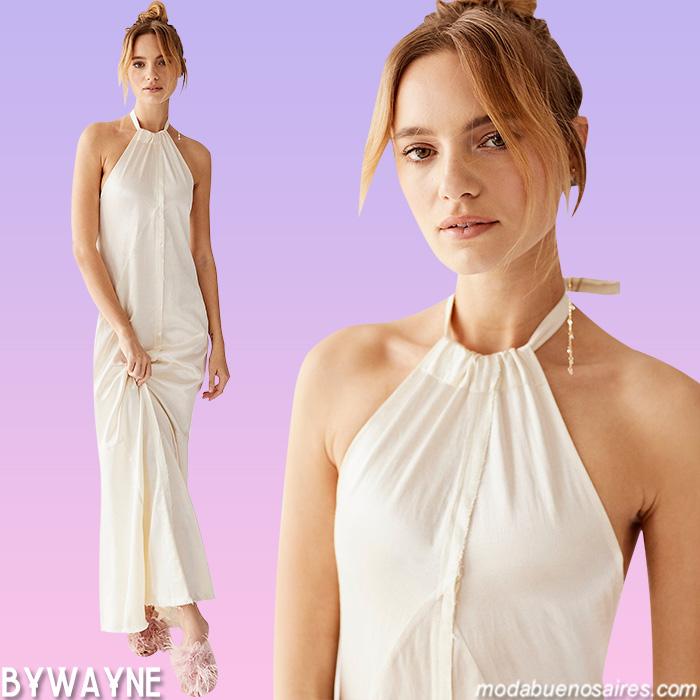 verano 2021 vestidos blancos largos