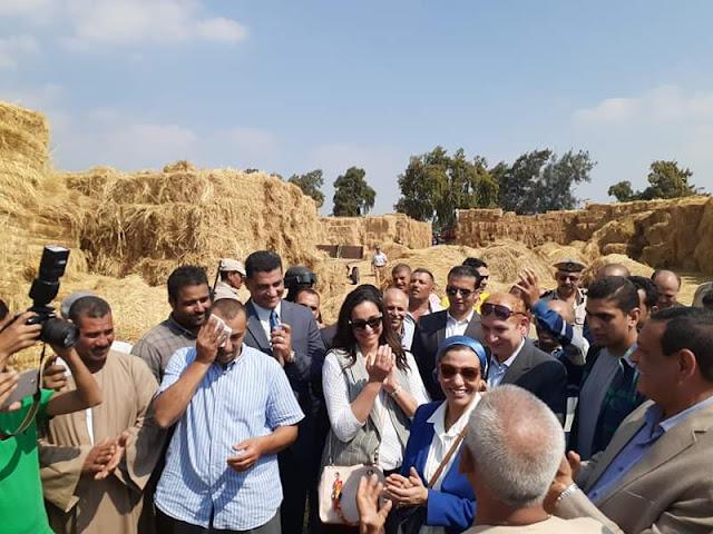 وزيرة البيئة  : قش الأرز تحول من مخلفات زراعية إلى مشروعات صغيرة توفر فرص عمل