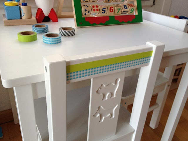 Ikea Kindertisch Washitape