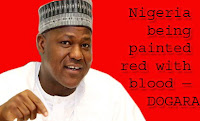 DOGARA - NIGERIA BEING PAINTED RED WITH BLOOD
