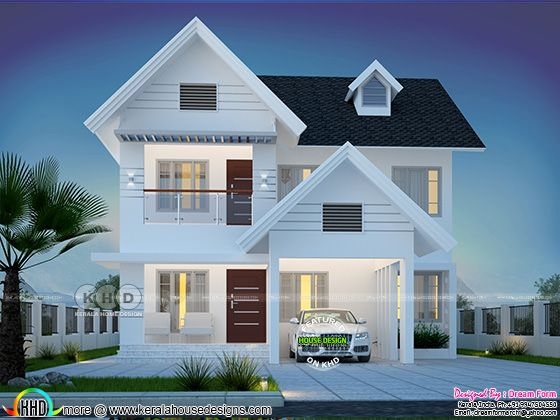 1992 square feet 4 bedroom beautiful house plan
